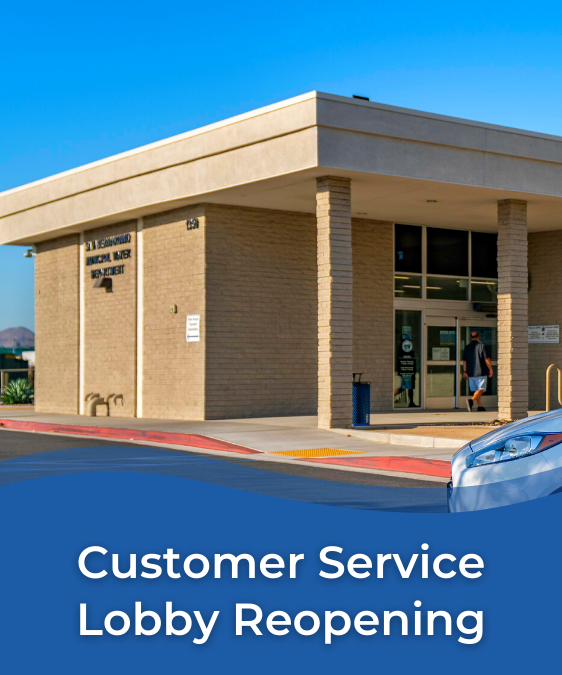 SBMWD Customer Service Lobby Reopening